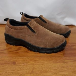 Lands End womens Suede Leather Slip On Size 7